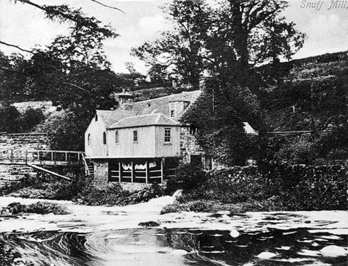 East Mill Snuff Mill, Juniper Green, c1910.