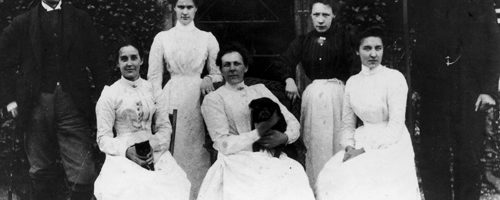 Malleny House Staff, c1900.