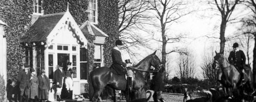 Hunt at Marchbank House, 1930s.
