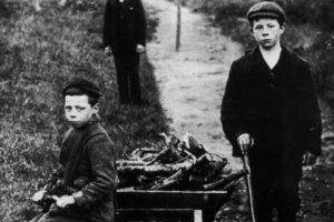 Boys at Ravelrig Crossing, 1930s.
