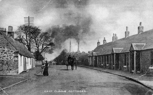East Currie Cottages, c1900.
